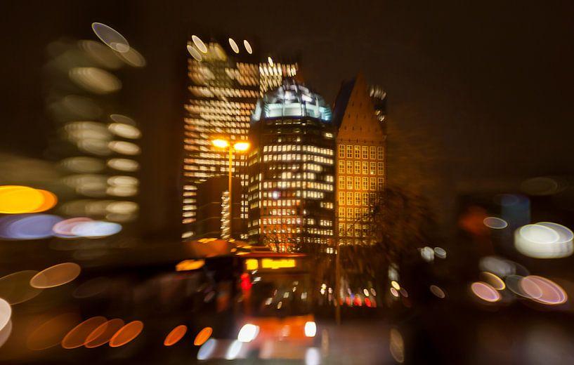 avond in de reigen, Den Haag van Ariadna de Raadt-Goldberg