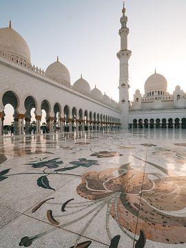 Scheich Zayed-Moschee (Abu Dhabi) am Ende des Nachmittags