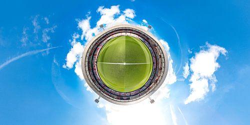 Stadion De Kuip Feijenoord 360 little earth, Spandoekenzee kleur