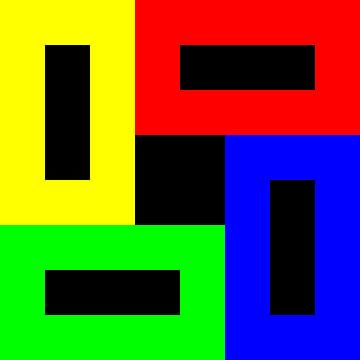 Permutatie | ID=08 | V=94 | Black+White Hole | P #01-DD van Gerhard Haberern