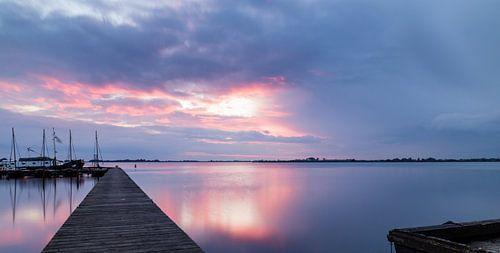Long Exposure zonsondergang Schildmeer van