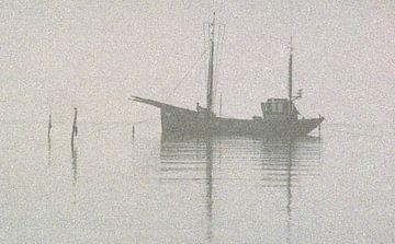 Aalfischer auf dem IJsselmeer von Enno Hemminga
