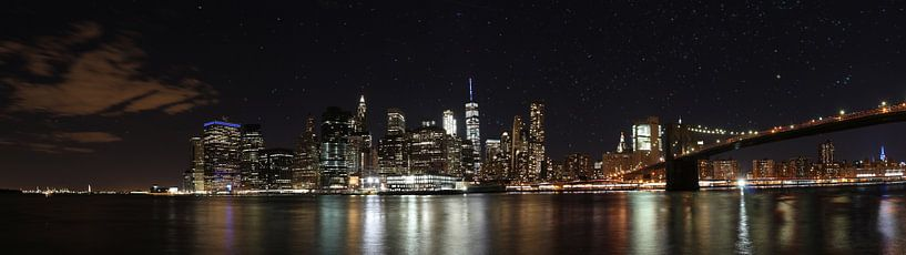 Panorama Skyline New York van Alwin Bongers