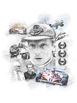 Niki Lauda van Theodor Decker