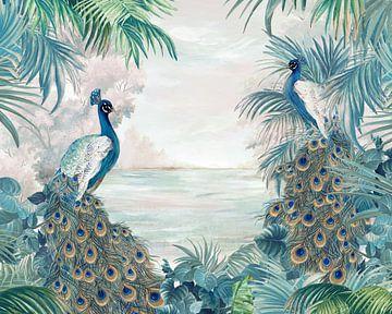 Indian Peafowls, Eva Watts  van PI Creative Art