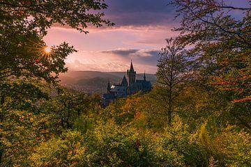 Château de Wernigerodeode, Harz, Saxe-Anhalt, Allemagne. sur Henk Meijer Photography