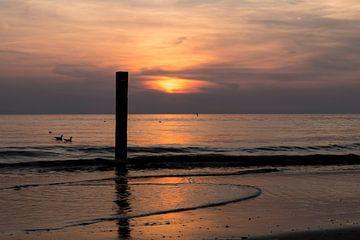 Zonsondergang Texel van Waterpieper Fotografie
