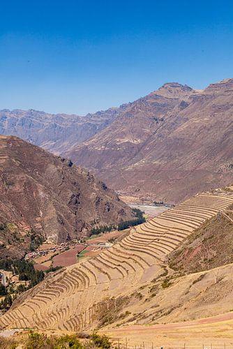 Ruines Kallaqasa bij Pisac, Peru, Zuid Amerika