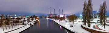 Met sneeuw aan het kanaal Panorama van Marc-Sven Kirsch