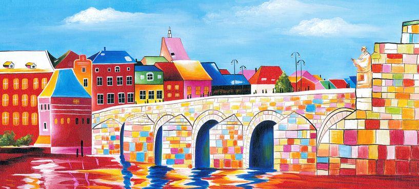Schilderij Maastricht - Sint Servaasbrug van Kunst Company
