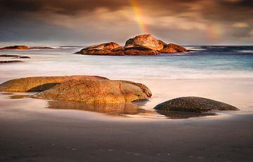 Zuidkust van Australië bij zonsondergang van Chris Stenger