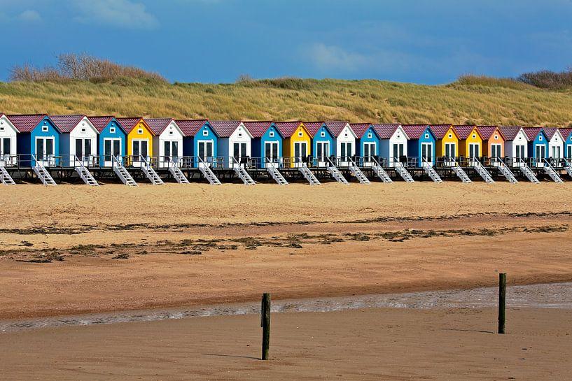 Strandhuisjes Vlissingen van Anton de Zeeuw