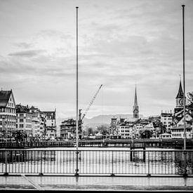 Regen in Zürich van Don Fonzarelli