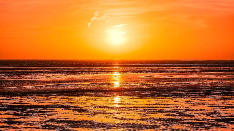 Sonnenuntergang vor Föhr von Heiko Westphalen