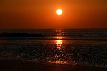 Zonsondergang in Westende van Gwen Laremans