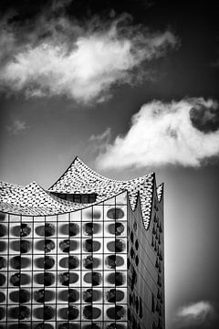 Elbphilharmonie Hamburg schwarzweiss von Matthias Hauser