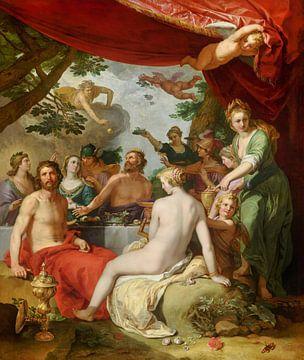 Das Fest der Götter bei der Hochzeit von Peleus und Thetis - Abraham Bloemaert, 1638 von Atelier Liesjes