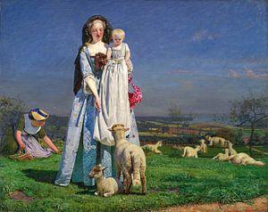 Ford Madox Brown. Pretty Baa-Lambs