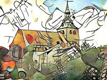 Kandinsky ontmoet Lüneburg #1 van zam art