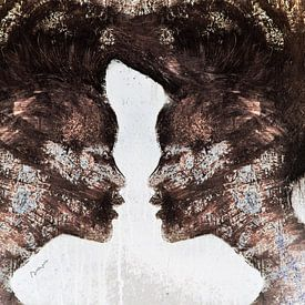 18. silhouet, portret, vrouwen,  Miss. van Alies werk