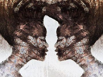 18. silhouet, portret, vrouwen,  Miss. sur Alies werk
