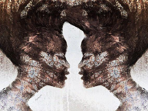 18. silhouet, portret, vrouwen,  Miss.