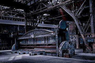 Industrie NDSM metaal wals van Evelien van der Horst