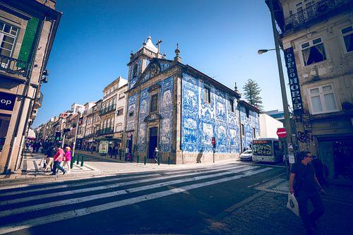 Decoratieve tegeltjes architectuur in Portugal