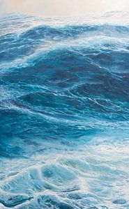 Middenpaneel Drieluik - Windkracht 10 op de oceaan van Bert Oosthout