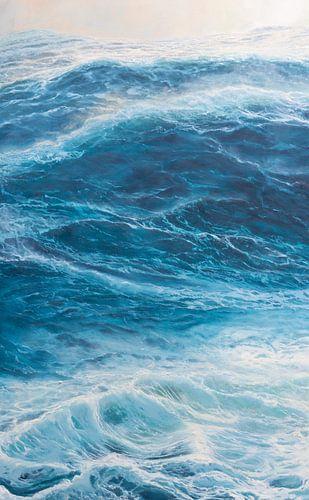 Mittlere Tafel Triptychon - Windstärke des Meeres 10
