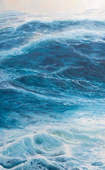 Middenpaneel Drieluik - Windkracht 10 op de oceaan