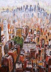 melting Manhattan - New York City van David Berkhoff