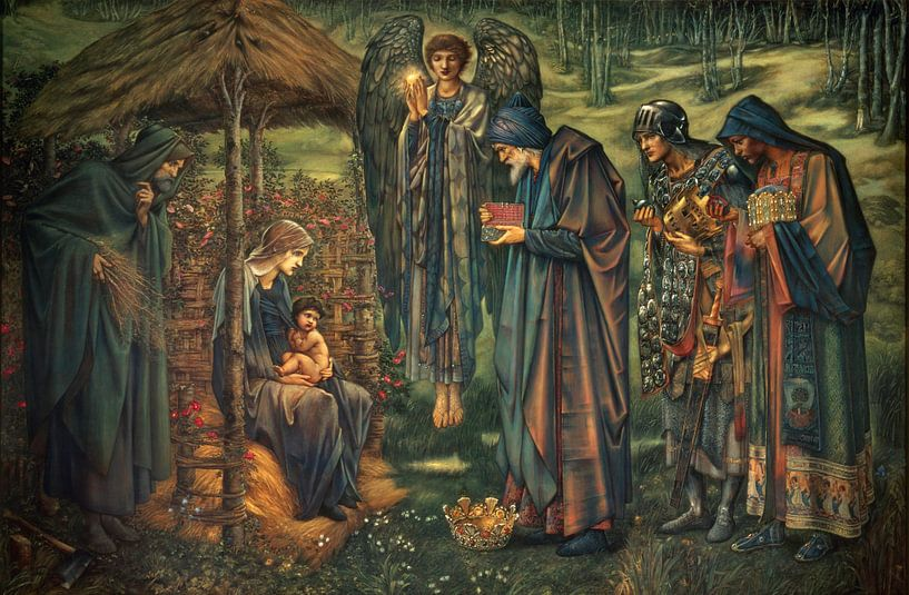 Edward Burne-Jones - The Star of Bethlehem van 1000 Schilderijen