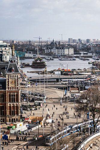Amsterdam centraal, centrum, Oosterdok en Scheepvaartmuseum van Renzo Gerritsen