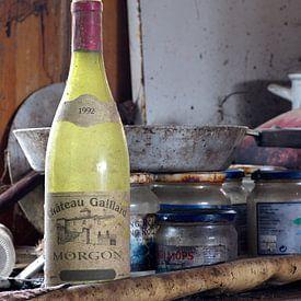 Fles wijn van W J Kok