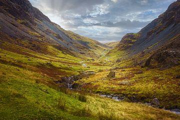 Tal mit Bach im Lake District, Großbritannien von Rietje Bulthuis