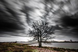 Temps orageux sur la rive (Pannerden, Arnhem) sur Eddy Westdijk