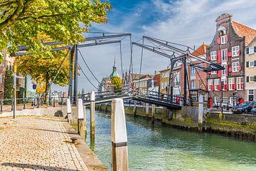 Kleurrijk historisch centrum van Dordrecht van
