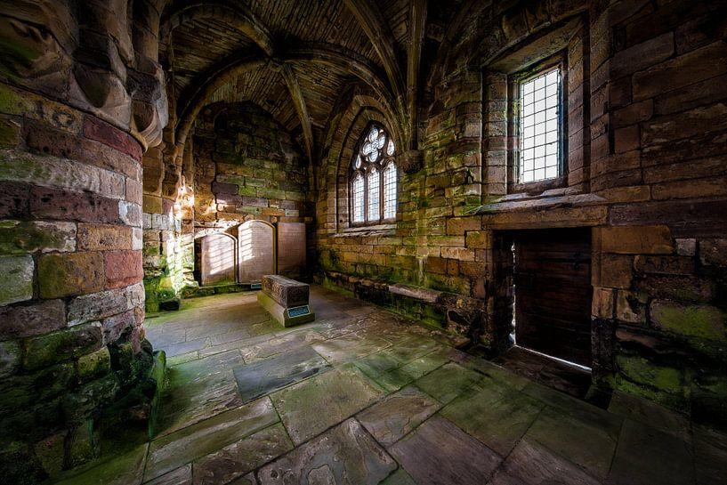 Jedburgh Abbey in Schotland van Steven Dijkshoorn