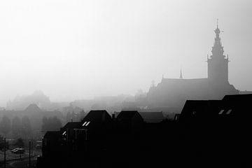 Nimwegen im Nebel von Bas Stijntjes