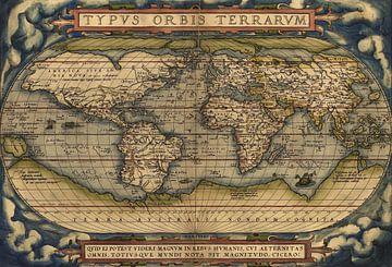 """Weltkarte von 1570 aus dem """"Theatrum Orbis Terrarum"""" von"""