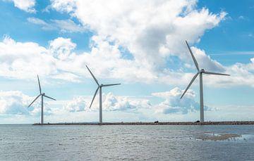 Windkraftanlagen In Einer Reihe von