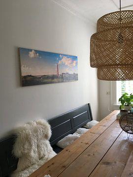Klantfoto: Zonnige kust vuurtoren Schiermonnikoog van Joris Beudel