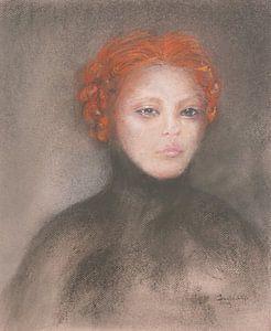 Zurückhaltende rothaarige Schönheit. von Ineke de Rijk