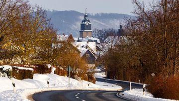 Herleshausen in de Werra vallei van Roland Brack