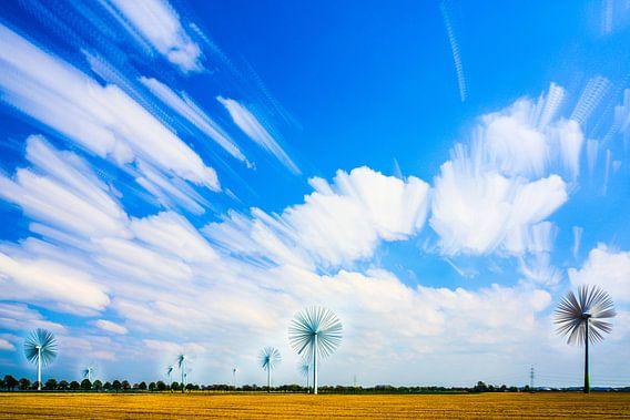 Windmolens als bloemen