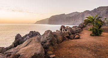 Zonsondergang op Tenerife van Davey Poppe