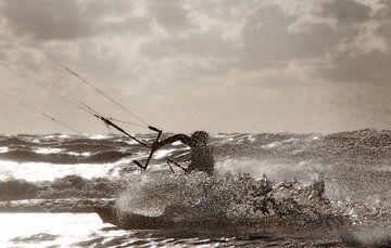 Kitesurfeur sur Hans Vink