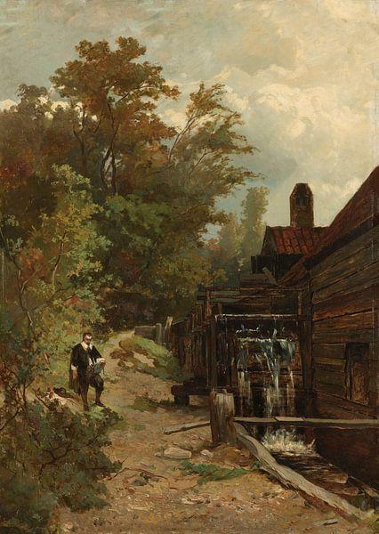 Jacob van Ruisdael, Skizze einer Wassermühle, Albert Gerard Bilders, 1864. von Marieke de Koning
