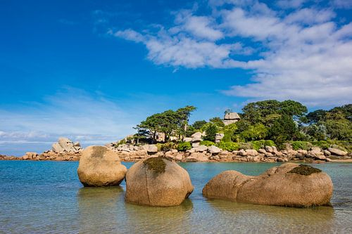 Pink Granite Coast in Brittany near Ploumanach